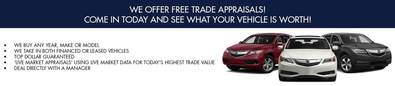 We offer Free Trade Appraisals
